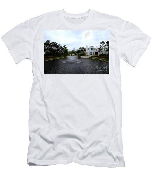 Pond At Alys Beach Men's T-Shirt (Slim Fit) by Megan Cohen
