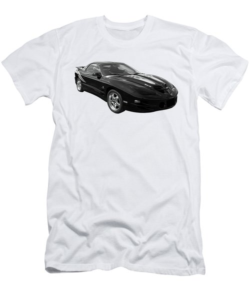 Pontiac Trans Am Ram Air In Black And White Men's T-Shirt (Athletic Fit)