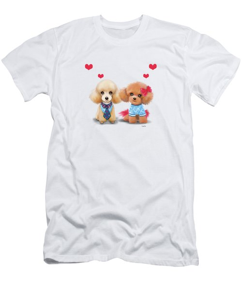 Poodles Are Love Men's T-Shirt (Slim Fit) by Catia Cho