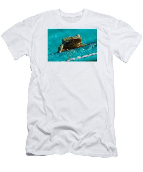 Men's T-Shirt (Slim Fit) featuring the photograph Pool Frog by Richard Patmore