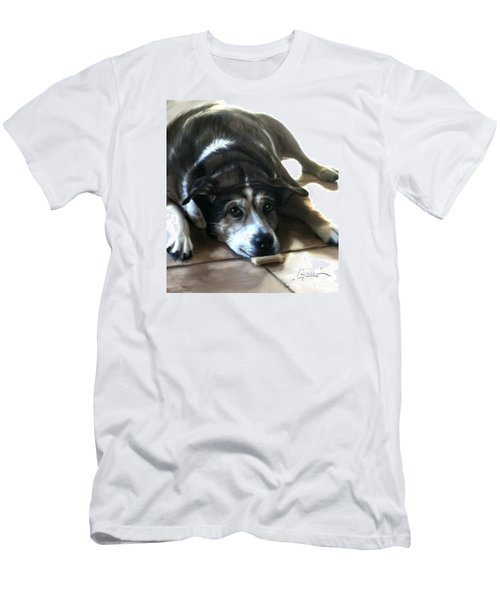 Men's T-Shirt (Athletic Fit) featuring the painting Pooz by Thomas Lupari