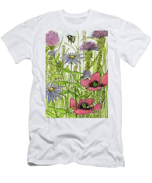 Poppies And Wildflowers Men's T-Shirt (Athletic Fit)