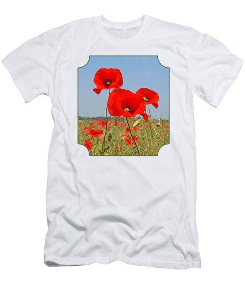 Poppy Fields 4 Men's T-Shirt (Athletic Fit)