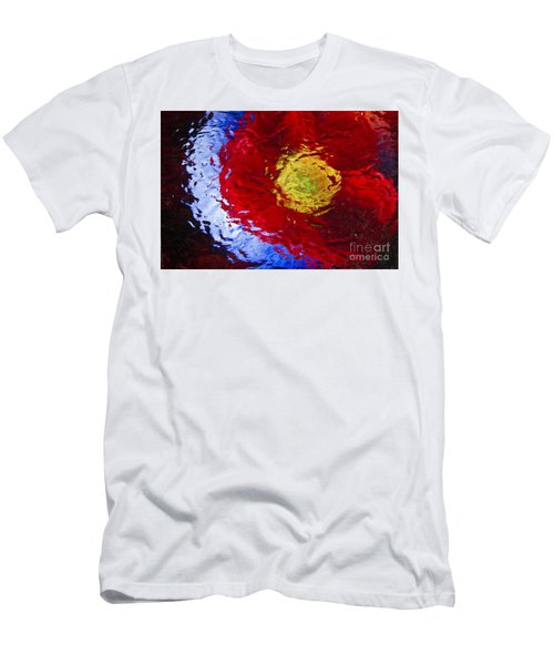 Men's T-Shirt (Slim Fit) featuring the photograph Poppy Impressions by Jeanette French