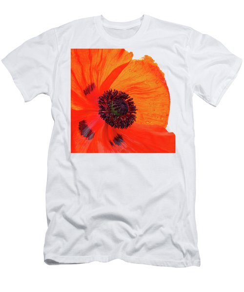 Poppy With Raindrops 2 Men's T-Shirt (Athletic Fit)