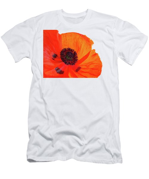 Poppy With Raindrops 3 Men's T-Shirt (Athletic Fit)