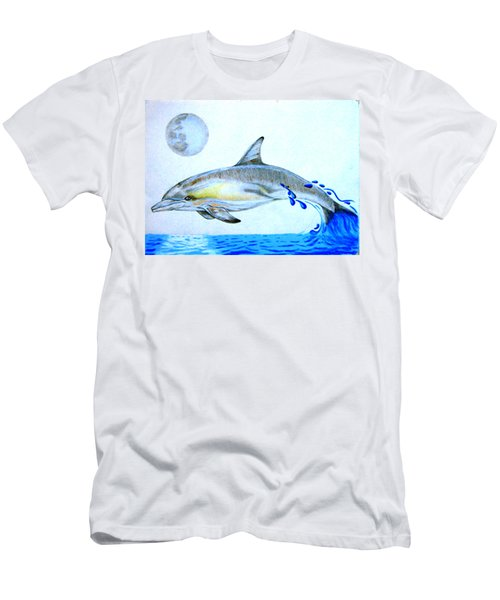 Men's T-Shirt (Slim Fit) featuring the drawing Porpoise by Mayhem Mediums