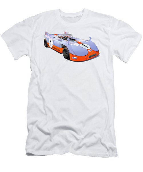 porsche 908 GULF illustration Men's T-Shirt (Athletic Fit)