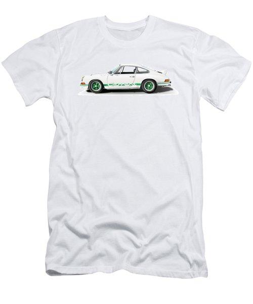 Porsche Carrera Rs Illustration Men's T-Shirt (Slim Fit) by Alain Jamar