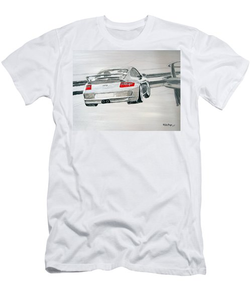 Men's T-Shirt (Athletic Fit) featuring the painting Porsche Gt3 by Richard Le Page