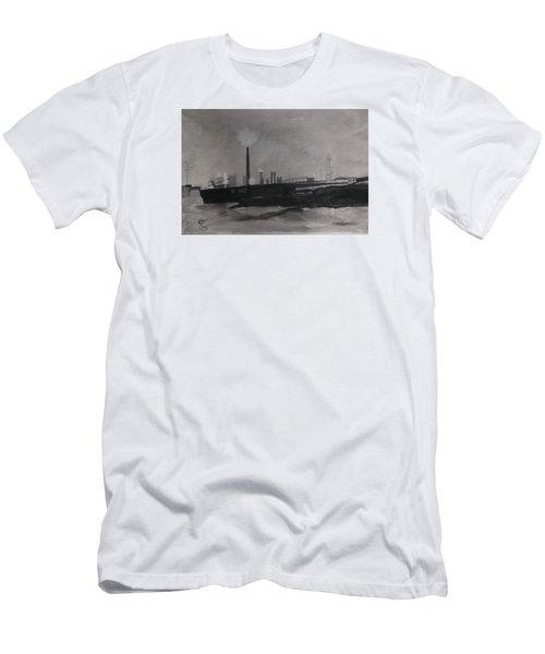 Port Talbot Steel Works Men's T-Shirt (Athletic Fit)