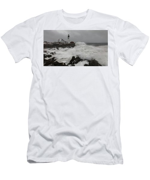 Portland Head Light Nor'easter Men's T-Shirt (Athletic Fit)