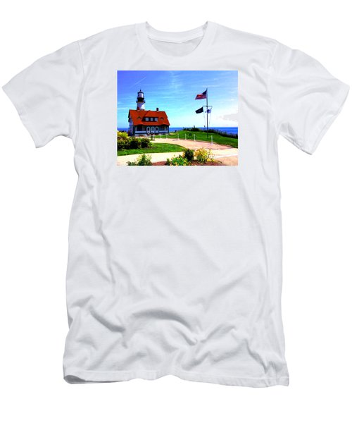 Portland Head Lighthouse Maine--crop Men's T-Shirt (Athletic Fit)