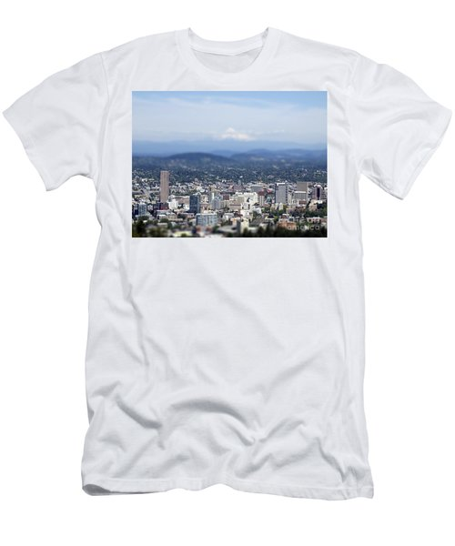 Portland In Perspective Men's T-Shirt (Athletic Fit)