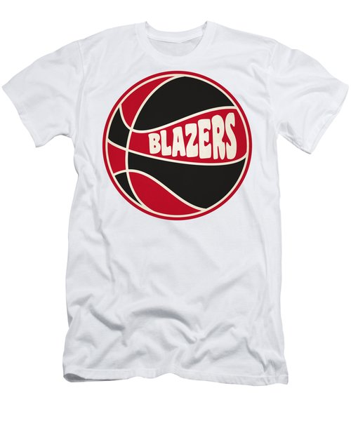 Portland Trail Blazers Retro Shirt Men's T-Shirt (Slim Fit) by Joe Hamilton