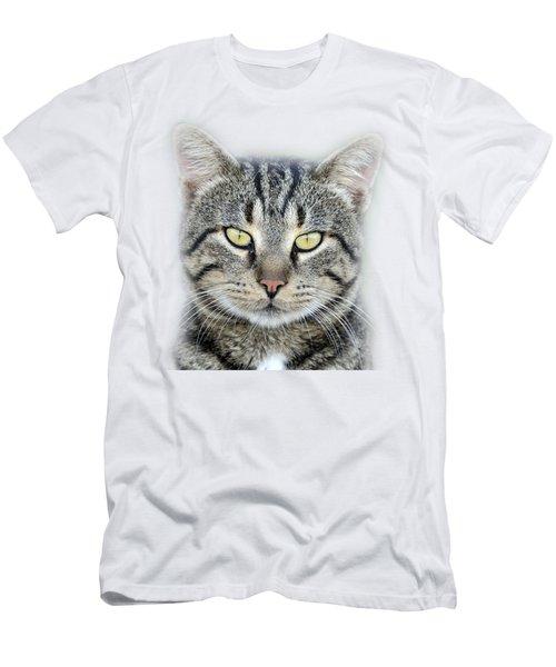 Portrait Of A Cat Men's T-Shirt (Slim Fit) by George Atsametakis