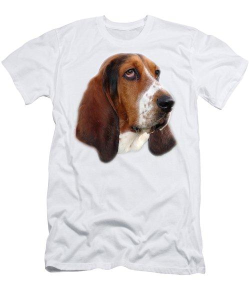 Portrait Of A Dog Men's T-Shirt (Slim Fit) by George Atsametakis
