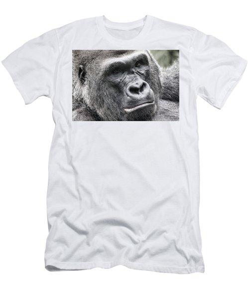 Portrait Of A Gorilla Men's T-Shirt (Athletic Fit)