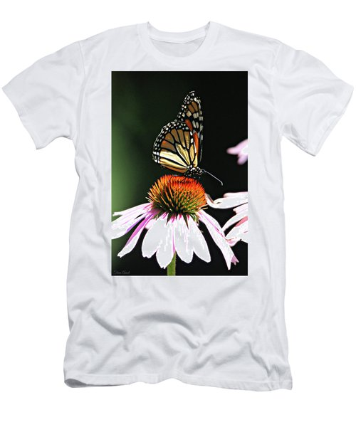 Men's T-Shirt (Athletic Fit) featuring the photograph Portrait Of A Monarch by Trina Ansel