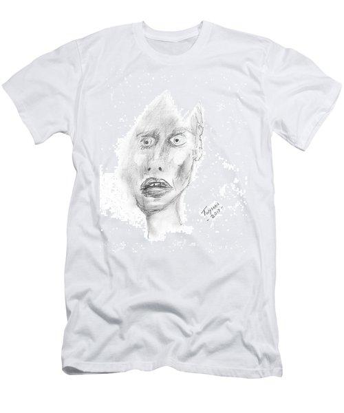 Portrait With Mechanical Pencil Men's T-Shirt (Slim Fit) by Dan Twyman