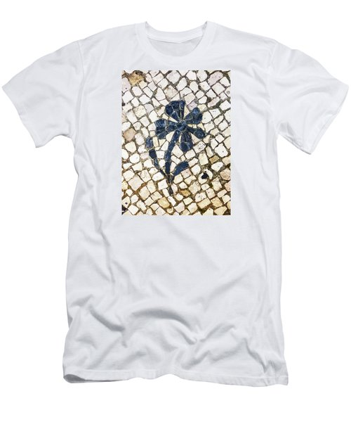 Portuguese Pavement With A Flower Detail Men's T-Shirt (Athletic Fit)