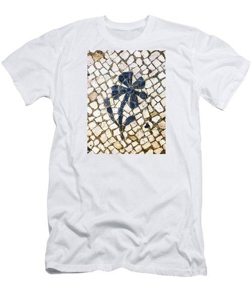 Portuguese Pavement With A Flower Detail Men's T-Shirt (Athletic Fit)