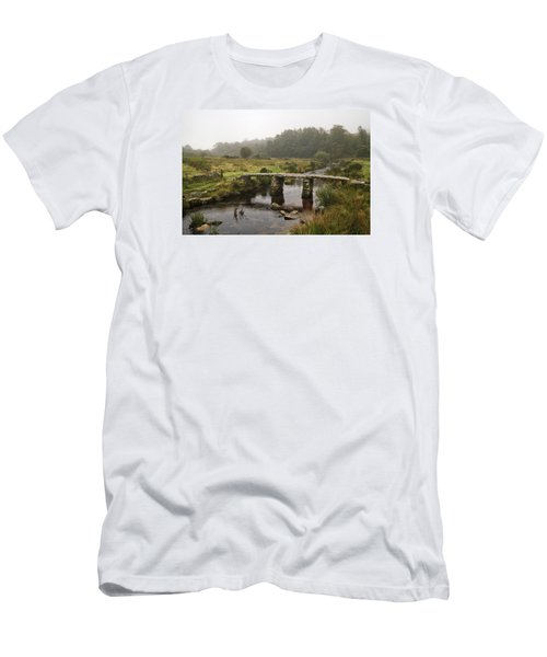 Postbridge Clapper Men's T-Shirt (Slim Fit) by Shirley Mitchell