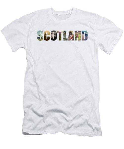 Postcard For Scotland Men's T-Shirt (Slim Fit) by Mr Doomits