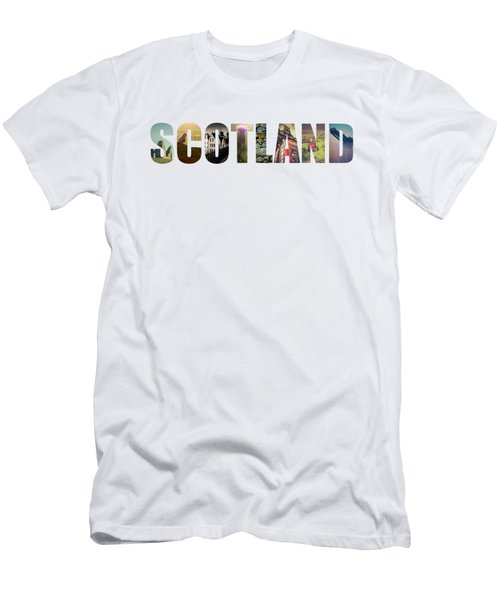 Postcard For Scotland Men's T-Shirt (Slim Fit)