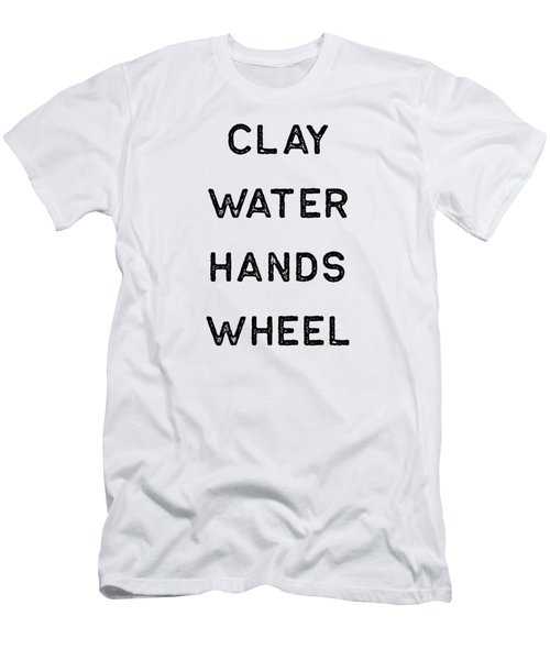 Pottery Design Clay Water Hands Wheel Dark Clay Ceramics Artist Clay Funny Gift Men's T-Shirt (Athletic Fit)