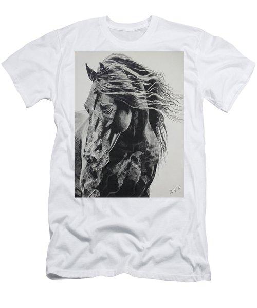 Power Of Horse Men's T-Shirt (Slim Fit) by Melita Safran