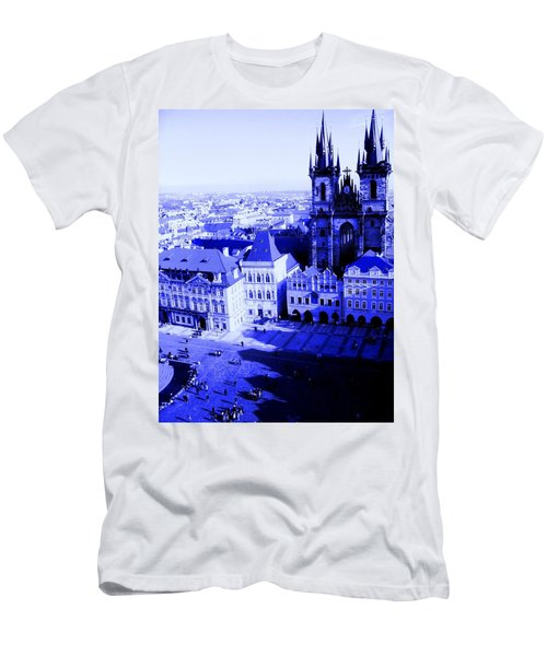 Men's T-Shirt (Athletic Fit) featuring the photograph Prague Cz by Michelle Dallocchio