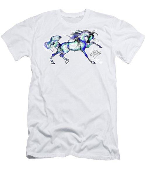Prancing Arabian Horse Men's T-Shirt (Athletic Fit)
