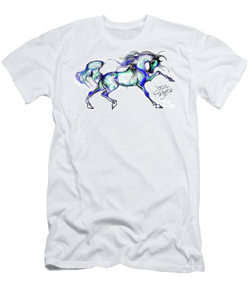 Prancing Arabian Horse Men's T-Shirt (Athletic Fit)