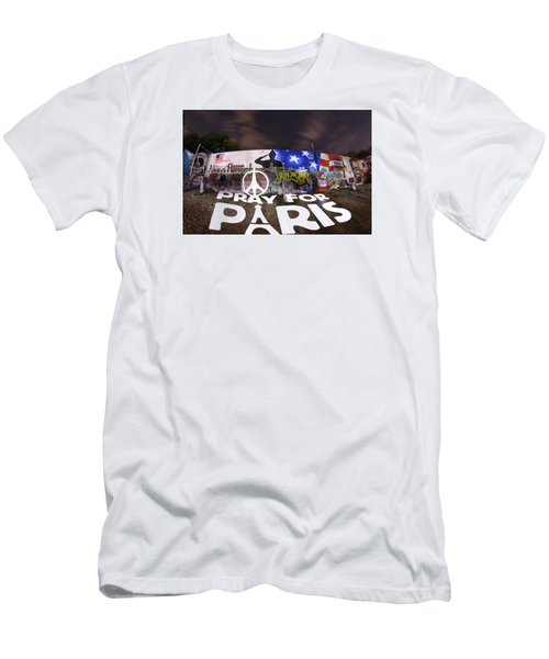 Pray For Paris Men's T-Shirt (Slim Fit) by Andrew Nourse
