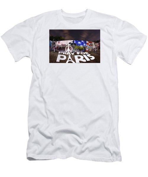 Pray For Paris Men's T-Shirt (Athletic Fit)