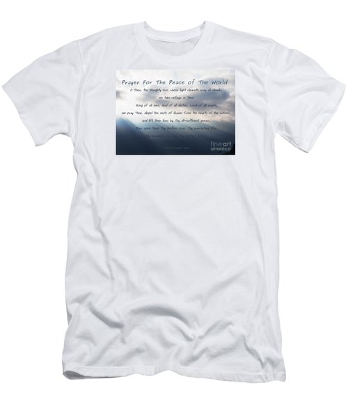 Men's T-Shirt (Slim Fit) featuring the photograph Prayer For The Peace Of The World by Agnieszka Ledwon