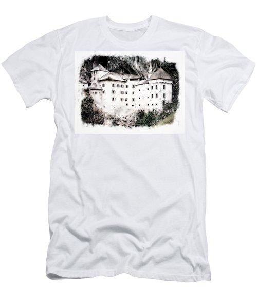 Men's T-Shirt (Slim Fit) featuring the photograph Predjama Castle by Joseph Hendrix