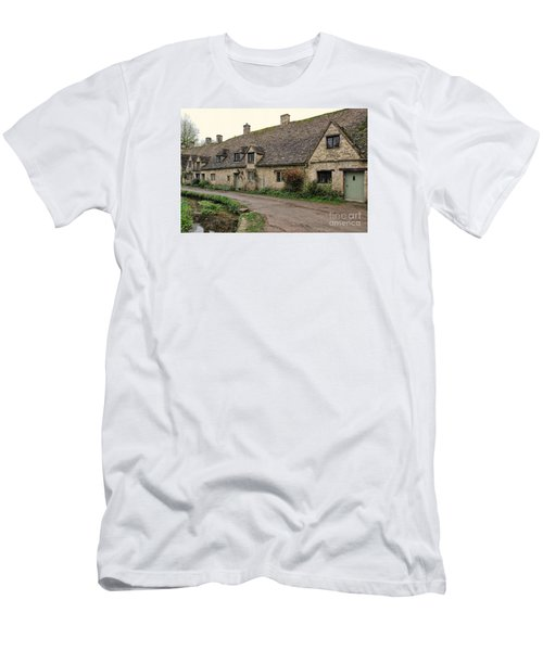 Pretty Cottages All In A Row Men's T-Shirt (Athletic Fit)