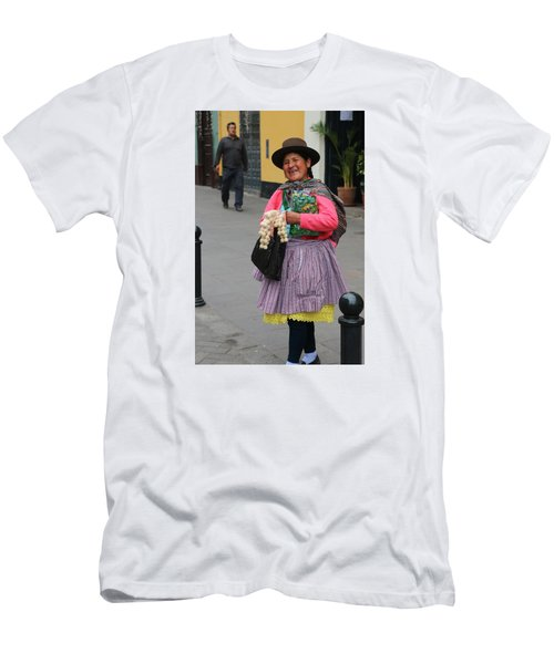 Pretty Lady In Lima Peru Men's T-Shirt (Athletic Fit)