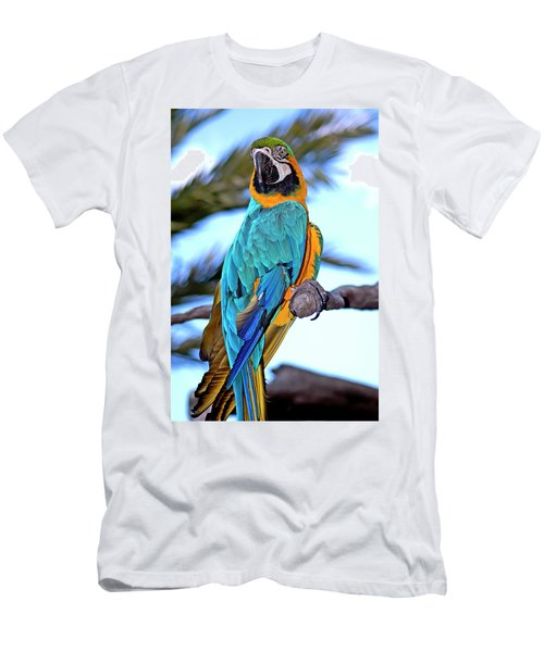 Pretty Parrot Men's T-Shirt (Athletic Fit)