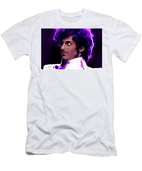 Men's T-Shirt (Slim Fit) featuring the digital art Prince - His Royal Badness by Stephen Younts