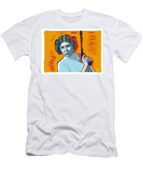 Men's T-Shirt (Athletic Fit) featuring the digital art Princess Leia by Antonio Romero