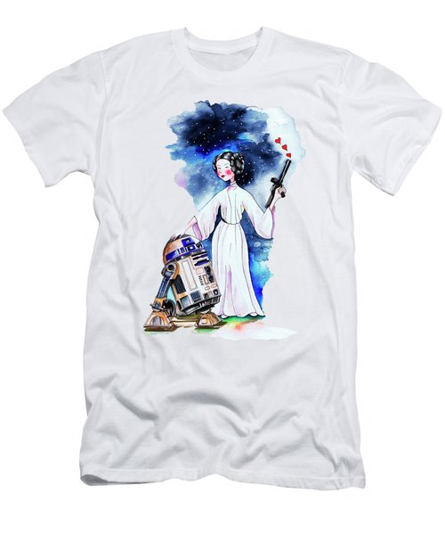 Princess Leia Illustration Men's T-Shirt (Slim Fit) by Isabel Salvador