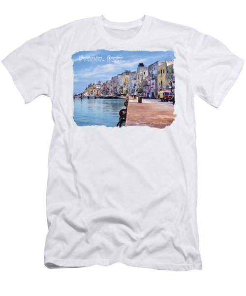 Procida Italy Men's T-Shirt (Slim Fit) by Jennie Breeze