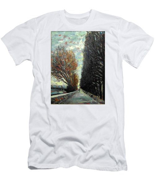 Men's T-Shirt (Slim Fit) featuring the painting Promenade by Walter Casaravilla