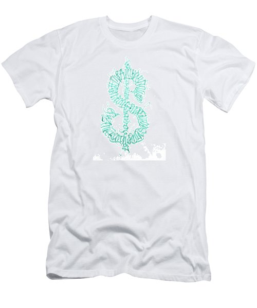 Prosperity. Calligraphy Abstract Men's T-Shirt (Athletic Fit)