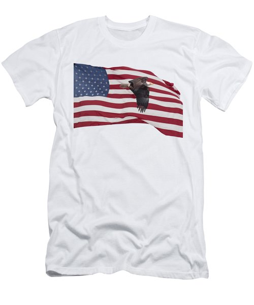 Men's T-Shirt (Slim Fit) featuring the photograph Proud To Be An American by Thomas Young