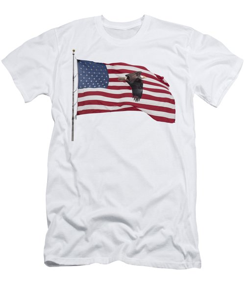 Proud To Be An American Men's T-Shirt (Athletic Fit)