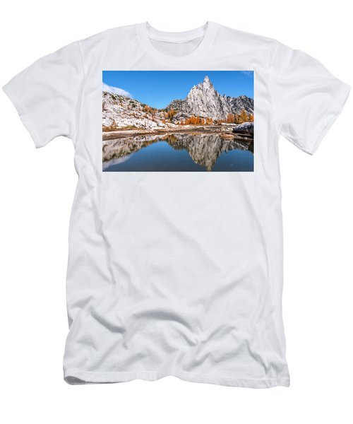 Prusik Peak Reflected In Gnome Tarn Men's T-Shirt (Athletic Fit)